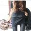 กางเกงหนัง PU เลคกิ้งยืด Leggings สไตล์ เกาหลี สีดำ ฟรีไซส์ thumbnail 5