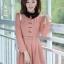 ชุดทำงานสวยๆ ชุดเดรสสั้น สีชมพู คอปก แขนยาว ให้ลุคสาวหวานสไตล์เกาหลี สวยหรู ดูดี ( S M L ) thumbnail 1