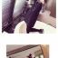 ชุดแฟชั่นเกาหลีน่ารักๆ สีดำ เสื้อลายขวางแขนยาว + เดรสสั้นแขนกุดทรงตรง thumbnail 3