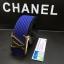 เข็มขัดหลุยส์ Louis Vuitton 2014 New Original Gold Buckle Men Belt Blue thumbnail 4