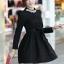 ชุดทำงานแฟชั่นเกาหลีสวยๆ มินิเดรสน่ารัก เดรสสั้น แขนยาว สีดำ คอประดับคริลตัล ( S M L XL ) thumbnail 3