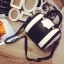 กระเป๋าถือ สะพายใหล่ ทรงกระบอก หนังนิ่ม สี ขาว/ดำ แบบใหม่ thumbnail 2
