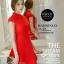ชุดเดรสสั้นสีแดง คอจีน แขนสั้น สีพื้น เรียบๆ สวยดูดี ใส่ได้ทั้งเป็นชุดลำลองสวยๆ ชุดทำงานน่ารักๆ thumbnail 3