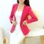 เสื้อสูททำงานผู้หญิง สีชมพู แขนยาว คอปก เอวเข้ารูป , thumbnail 2
