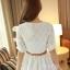 ชุดเดรสสั้นแฟชั่นเกาหลี ชุดเดรสลูกไม้สีขาว แขนสามส่วน เป็นชุดเดรสแนวหวานน่ารัก สวย เรียบร้อย ดูดี ( S M L ) thumbnail 7