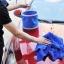 ถังใส่น้ำ ล้างรถยนต์ อเนกประสงค์ แบบพับได้ พกพาสะดวก (สีแดง,สีฟ้า) thumbnail 6