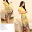 ชุดเดรสยาวแฟชั่นเกาหลี ชุดเดรสน่ารัก ชุดเดรสยาว ชุดเดรสลายดอก ชุดเดรสยาวกระโปรงลายดอกไม้ สีเหลือง ( M,L,XL,XXL ) thumbnail 4