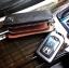 กระเป๋าซองหนังแท้ ใส่กุญแจรีโมทรถยนต์ Cowhide โลโก้ - เงิน สีดำ thumbnail 9