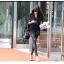 กางเกงหนัง PU เลคกิ้งยืด Leggings สไตล์ เกาหลี สีดำ ฟรีไซส์ thumbnail 4