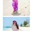 ชุดเดรสเที่ยวทะเลยาวสีม่วง ใส่ไปเที่ยวทะเล เย็บคล้องคอ เอวยืด พิมพ์ลายดอกไม้ สวยหวาน thumbnail 2