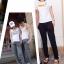กางเกงขายาวผ้ายืดผู้หญิง กางเกงขายาว Anjoy & Fitchไซส์ M (AF) สีเทา thumbnail 15