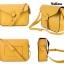 กระเป๋า สะพายไหล่ Messenger สีเหลือง thumbnail 4