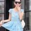 ชุดเซ็ทสองชิ้นเข้าชุดสีฟ้า สวยหรู ดูดี แฟชั่นสไตล์เกาหลี thumbnail 2