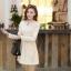 ชุดเดรสสั้นแฟชั่นเกาหลี มินิเดรสสั้นสีเบจ คอปักมุก แขนยาว เป็นชุดเดรสสวยๆ แนวหวานน่ารัก เรียบร้อย ดูดี สามารถใส่ออกงานได้ ( M L XL ) thumbnail 7