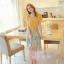 ชุดเดรสยาวแฟชั่นเกาหลี แม็กซี่เดรสสวยๆ สีเหลือง กระโปรงลายดอกไม้ เป็นชุดเดรสแนวหวานน่ารัก เรียบร้อย ดูดี ( S M L) thumbnail 2