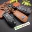 ซองหนังแท้ ใส่กุญแจรีโมทรถยนต์ All New Ford Ranger,Everest 2015-18 รุ่นหนังนิ่ม โลโก้-ฟ้า thumbnail 1