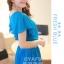 ชุดเดรสออกงาน,ชุดไปงานแต่งงานสวยๆ ชุดเดรสยาว สีฟ้า ผ้าชีฟอง ให้ลุคสาวหวานสไตล์เกาหลี สวยหรู ดูดี ( S M L ) thumbnail 4