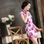 ชุดเดรสทำงาน ชุดแซกทำงานสวยๆสไตล์สาวหมวย ลายดอกไม้สีชมพู คอจีน เข้ารูป ผ้าโพลีเอสเตอร์ thumbnail 3