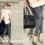 กางเกงผู้หญิง jeggings Leggings Tights สีดำ ฟรีไซส์ thumbnail 1