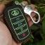 ซองหนังแท้ ใส่กุญแจรีโมทรถยนต์ รุ่นด้ายสีเรืองแสง All New Toyota Fortuner/Camry 2015-18 Smart 4 ปุ่ม thumbnail 13