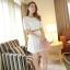ชุดเดรสสั้นแฟชั่นเกาหลี ชุดเดรสลูกไม้สีขาว แขนสามส่วน เป็นชุดเดรสแนวหวานน่ารัก สวย เรียบร้อย ดูดี ( S M L ) thumbnail 2