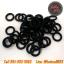 โอริงยางรองใบตีเครื่องสักสีดำ ±100ชิ้น Black Rubber O-ring's for Tattoo Machine Gun (±100PCS) thumbnail 1