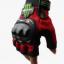ถุงมือขี่มอเตอร์ไซค์ครึ่งนิ้ว Pro-Biker-Monster สีแดง thumbnail 2