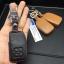 New ซองหนังแท้ ใส่กุญแจรีโมทรถยนต์ Toyota New Yaris 2014-18 แบบ Push Start โลโก้เงิน รุ่น 2 ปุ่ม thumbnail 4