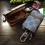กระเป๋าซองหนัง ใส่กุญแจรีโมทรถยนต์ รุ่นซิบรอบ พิมพ์ลายโลโก้ Gucci thumbnail 5