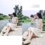 ชุดเดรสออกงานสีขาว เปิดหลัง แขนกุด ช่วงบนปักเลื่อมสวยหรู กระโปรงยาว สวยเก๋แฟชั่นสไตล์เกาหลี thumbnail 2