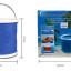 ถังใส่น้ำ ล้างรถยนต์ อเนกประสงค์ แบบพับได้ พกพาสะดวก (สีแดง,สีฟ้า) thumbnail 10