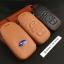 ซองหนังแท้ ใส่กุญแจรีโมทรถยนต์ รุ่นโลโก้-ฟ้า Subaru XV,Forester,Brz,Outback 2015-18 Smart Key thumbnail 2