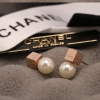 Cube Pearl Earrings by CC