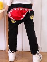 *ส่งฟรี EMS* เสื้อผ้าเด็กนำเข้า กางเกงผ้ายืดขายาวสีดำ มีกระเป๋าข้าง ด้านหลังแต่งซิปเปิดปิดเป็นรูปปากฉลาม ไซส์ 100, 110, 120, 130, 140