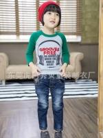 *ส่งฟรี EMS* เสื้อผ้าเด็กนำเข้า เสื้อยืดแขนยาว สีเทา-เขียว สกรีนหูฟัง GROOVES FREE ไซส์ 90, 100, 110, 120, 130