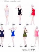 Manmodel MM09 Female Low-cut u collar mini dress