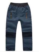 *ส่งฟรี* เสื้อผ้าเด็กนำเข้า กางเกงขายาว Two&Seven เอวยางยืดสีน้ำเงิน ไซส์ 110, 120, 130, 140 #1215