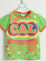 *ส่งฟรี* เสื้อผ้าเด็กนำเข้า ขายส่งยกแพ็คพร้อมส่ง เสื้อยืดแขนสั้น CI-SI สีเขียว สกรีน New CAL ไซส์ 90, 100, 110, 120, 130 #1328