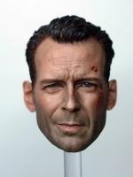 T-10 Bruce Willis Battle Damaged Head Sculpture (Never DIE)