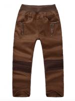*ส่งฟรี* เสื้อผ้าเด็กนำเข้า ขายส่งยกแพ็คพร้อมส่ง กางเกงขายาว Two&Seven เอวยางยืดสีน้ำตาล ไซส์ 110, 120, 130, 140 #1215