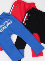 *ส่งฟรี* เสื้อผ้าเด็กนำเข้า ขายส่งยกแพ็คพร้อมส่ง กางเกงขายาว CI-SI เอวยาวยืดสีน้ำเงิน แต่งกระเป๋าหน้า ไซส์ 100, 110, 120, 130, 140 #3067