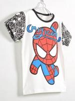 *ส่งฟรี* เสื้อผ้าเด็กนำเข้า ขายส่งยกแพ็คพร้อมส่ง เสื้อยืดแขนสั้น CI-SI สีขาว สกรีน Spiderman ไซส์ 90, 100, 110, 120, 130 #1506 (มีจำหน่ายเฉพาะในเว็บไซต์เท่านั้น)