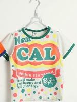 *ส่งฟรี* เสื้อผ้าเด็กนำเข้า ขายส่งยกแพ็คพร้อมส่ง เสื้อยืดแขนสั้น CI-SI สีเทาขลิบเขียว สกรีน New CAL ไซส์ 90, 100, 110, 120, 130 #1328
