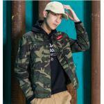 เสื้อแจ็คเก็ตพลางฟอกสีซีดแฟชั่น J003 (Army Harajuku Style) >> ลดล้างสต๊อก