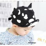 หมวกเด็กลายวัวสีดำ