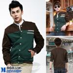เสื้อแจ๊คเก็ต J025 สีเขียว (พร้อมส่ง)