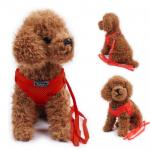 Zlchen สายจูงสุนัข เสื้อจูงสุนัข สีแดง