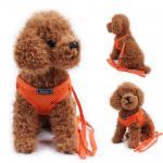 Zlchen สายจูงสุนัข เสื้อจูงสุนัข สีส้ม