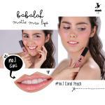 Babalah Matte Me Lip No.1 สี Coral Peach
