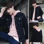 เสื้อแจ็คเก็ตยีนต์ J001 (สีดำ) [สินค้าไต้หวันนำเข้า-พร้อมส่ง]